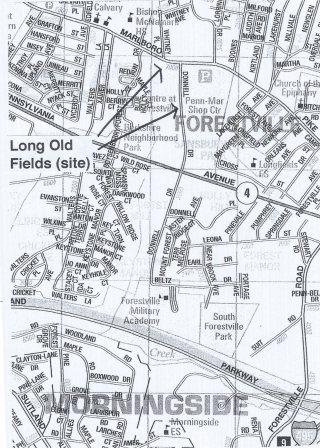 Long Old Fields on Map